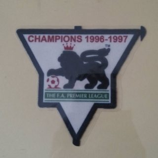 England Premier League Champion 1996-1997 Gold Patch / Badge Manchester United