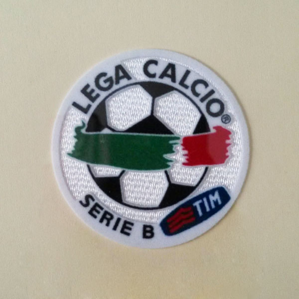 Italy Serie B 04-07 Sleeve Embroidery Patch / 3D Flock Badge