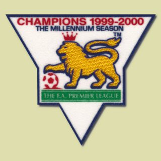 England Premier League Champion 1999-2000 Gold Patch / Badge Manchester United