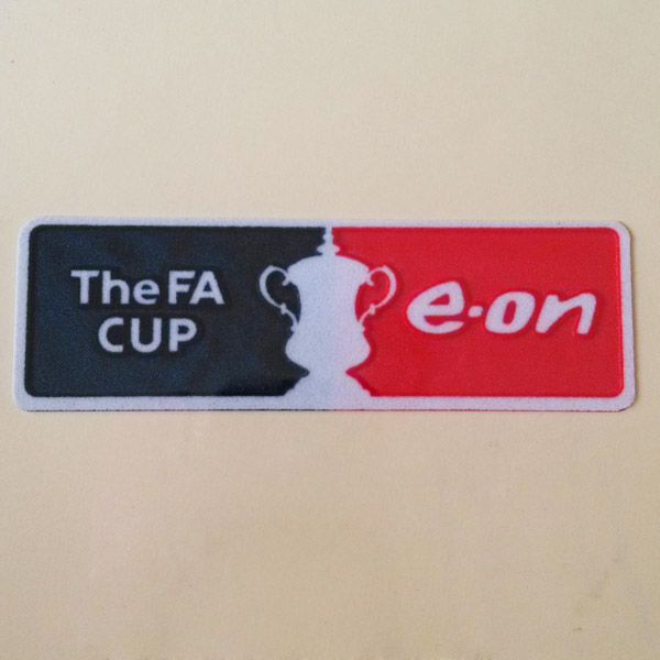 FA Cup e-on 2007 - 2011 Sleeve Soccer Patch / 3D Flock Badge
