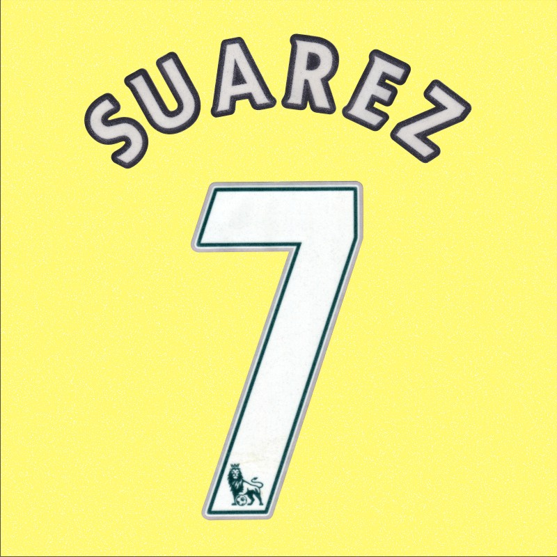 New Epl 12 13 Liverpool 7 Suarez Away Soccer Jersey Name