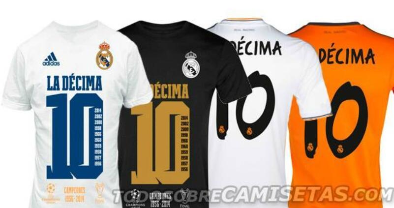 Real Madrid la decima shirts 2014 released