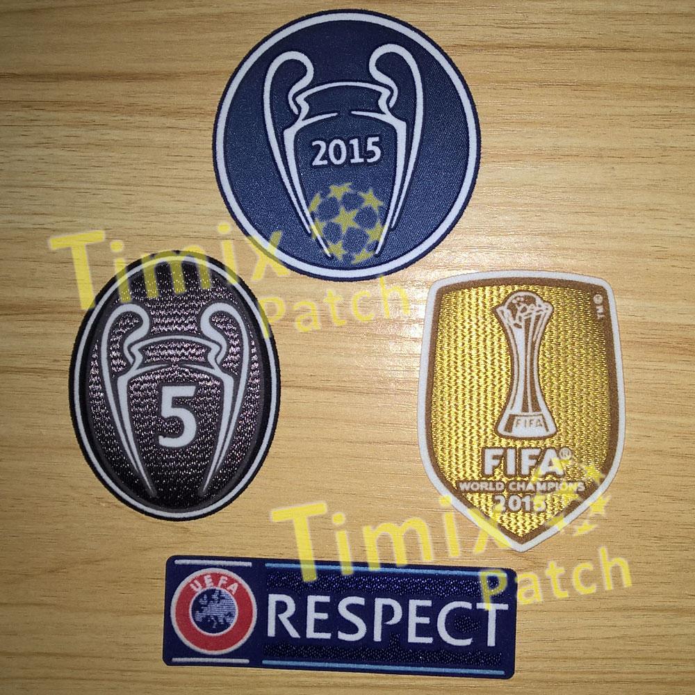 online store 82bf5 bc659 UEFA CHAMPIONS LEAGUE BARCELONA 2015 FIFA SET OF PATCHE BADGE PARCHE 5  TROPHY
