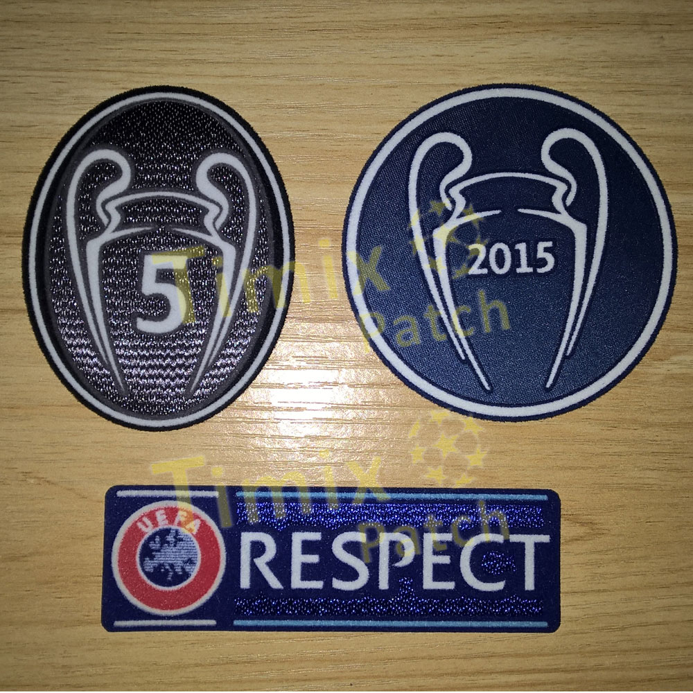 info for 7373e 8ad8e UEFA Champions League Barcelona 15'16 Set Of Patche Badge Parche 5 Trophy  Messi