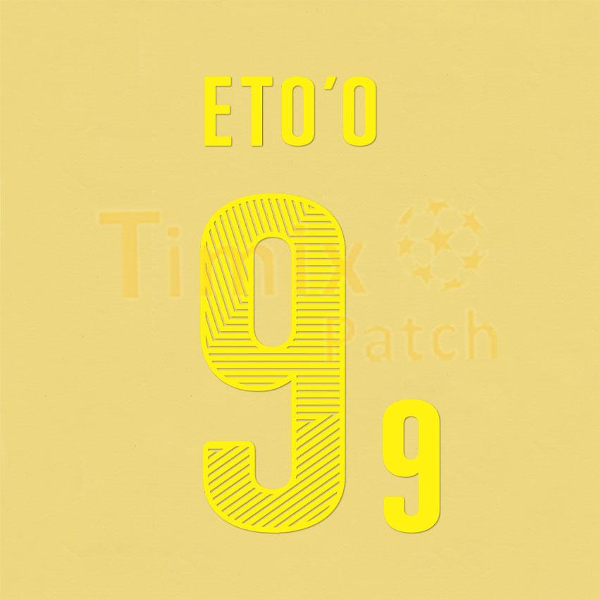 buy popular 9ecfc 88420 ETO'O 9 Cameroon 2014 World Cup Home Shirt Nameset Polyflex Printing