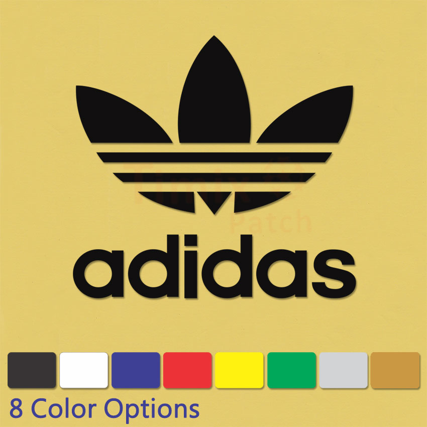 Adidas Originals Iron On Sports Logo Diy T Shirt Clothing Pu Transfer Sticker