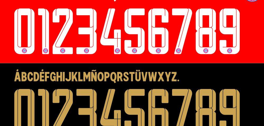 FC Bayern 21-22 Kit Font